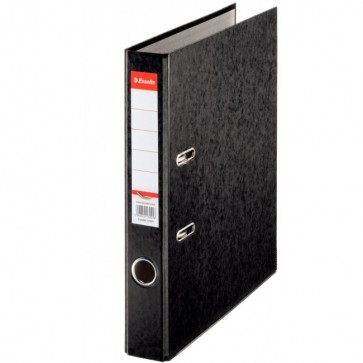 Biblioraft din carton prespan, 5.0 cm, negru, ESSELTE Rainbow