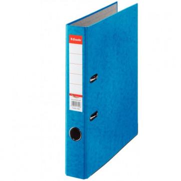 Biblioraft din carton prespan, 5.0cm, albastru, ESSELTE Rainbow