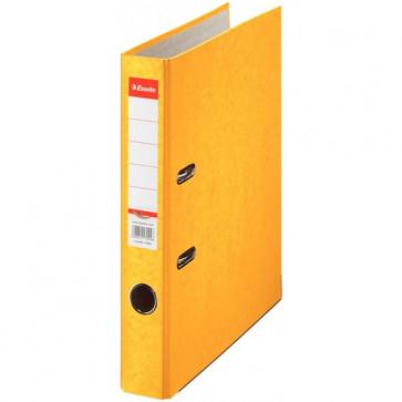 Biblioraft din carton prespan, 5.0cm, galben, ESSELTE Rainbow