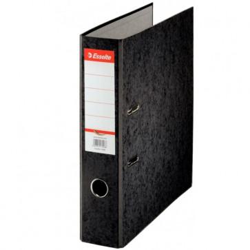 Biblioraft din carton prespan, 7.5 cm, negru, ESSELTE Rainbow