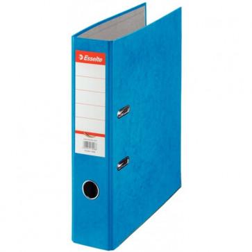 Biblioraft din carton prespan, 7.5cm, albastru, ESSELTE Rainbow