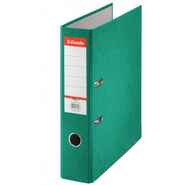 Biblioraft din carton prespan, 7.5cm, verde, ESSELTE Rainbow