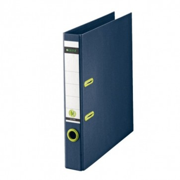 Biblioraft din carton reciclat, 5.0cm, albastru, LEITZ Re:cycle