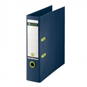 Biblioraft din carton reciclat, 8.0cm, albastru, LEITZ Re:cycle
