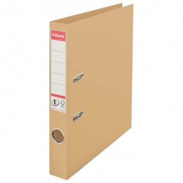 Biblioraft dublu plastifiat, 5.0cm, culoarea nisipului, ESSELTE No. 1 Power