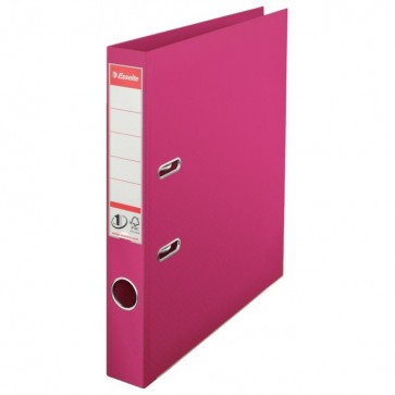Biblioraft dublu plastifiat, 5.0cm, fuchsia, ESSELTE No. 1 Power