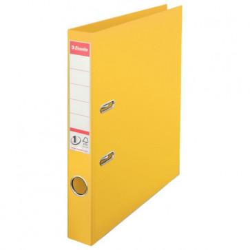Biblioraft dublu plastifiat, 5.0cm, galben, ESSELTE No. 1 Power