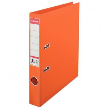 Biblioraft dublu plastifiat, 5.0cm, portocaliu, ESSELTE  No. 1 Power