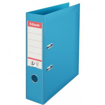 Biblioraft dublu plastifiat, 7.5cm, azuriu, ESSELTE No. 1 Power