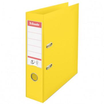 Biblioraft dublu plastifiat, 7.5cm, galben, ESSELTE  No. 1 Power VIVIDA