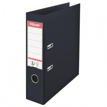 Biblioraft dublu plastifiat, 7.5cm, negru, ESSELTE No. 1 Power VIVIDA