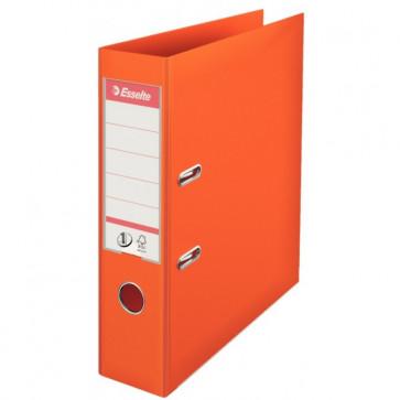 Biblioraft dublu plastifiat, 7.5cm, portocaliu, ESSELTE No. 1 Power