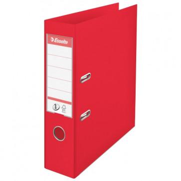 Biblioraft dublu plastifiat, 7.5cm, rosu, ESSELTE  No.1 Power VIVIDA