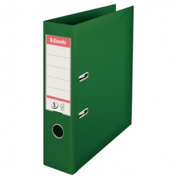 Biblioraft dublu plastifiat, 7.5cm, verde, ESSELTE  No. 1 Power