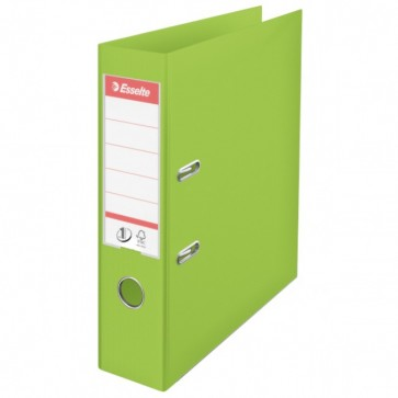 Biblioraft dublu plastifiat, 7.5cm, verde, ESSELTE  No. 1 Power VIVIDA