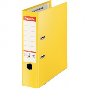 Biblioraft dublu plastifiat, 8.0cm, galben, ESSELTE Jumbo Plus No. 1 Power VIVIDA