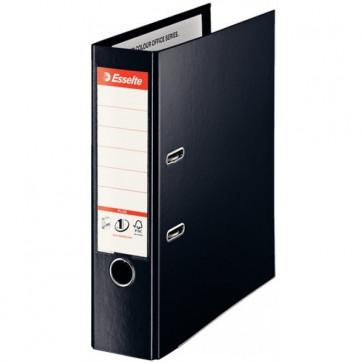 Biblioraft dublu plastifiat, 8.0cm, negru, ESSELTE No.1 VIVIDA Plus
