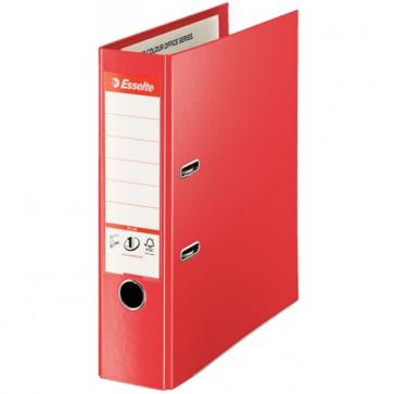 Biblioraft dublu plastifiat, 8.0cm, rosu, ESSELTE Jumbo Plus No.1 Power VIVIDA