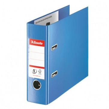 Biblioraft dublu plastifiat, pentru banca, 7.5cm, albastru, ESSELTE No. 1 Power VIVIDA