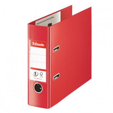 Biblioraft dublu plastifiat, pentru banca, 7.5cm, rosu, ESSELTE No. 1 Power VIVIDA