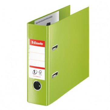 Biblioraft dublu plastifiat, pentru banca, 7.5cm, verde, ESSELTE No. 1 Power VIVIDA
