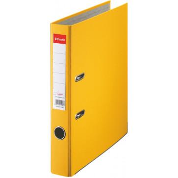 Biblioraft plastifiat, 5.0cm, galben, ESSELTE Economy