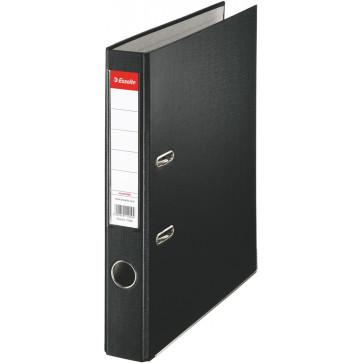 Biblioraft plastifiat, 5.0cm, negru, ESSELTE Economy