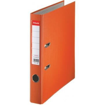 Biblioraft plastifiat, 5.0cm, portocaliu, ESSELTE Economy