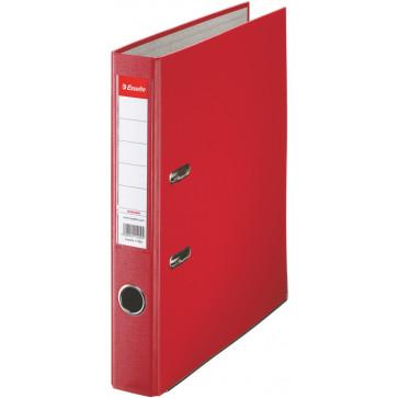 Biblioraft plastifiat, 5.0cm, rosu, ESSELTE Economy