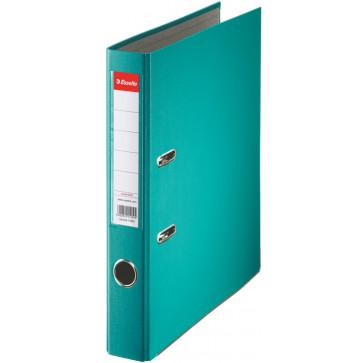 Biblioraft plastifiat, 5.0cm, turcoaz, ESSELTE Economy