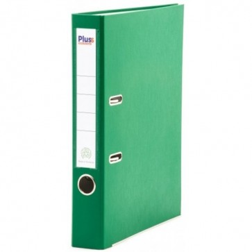 Biblioraft plastifiat, 5.0cm, verde, PLUSS