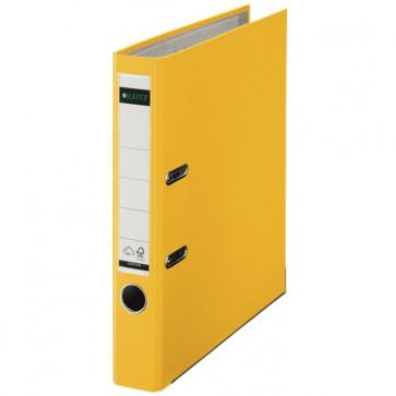Biblioraft plastifiat, 5.2cm, galben, LEITZ 180°