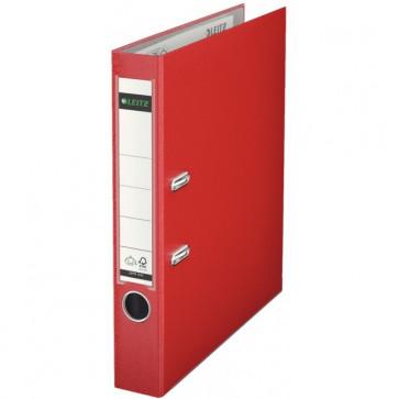 Biblioraft plastifiat, 5.2cm, rosu, LEITZ 180°