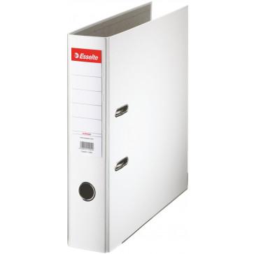 Biblioraft plastifiat, 7.5cm, alb, ESSELTE Economy