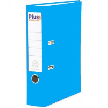 Biblioraft plastifiat, 7.5cm, albastru deschis, PLUSS