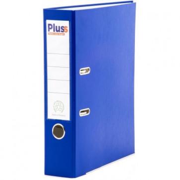 Biblioraft plastifiat, 7.5cm, albastru, PLUSS