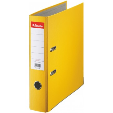 Biblioraft plastifiat, 7.5cm, galben, ESSELTE Economy