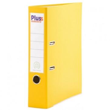 Biblioraft plastifiat, 7.5cm, galben, PLUSS
