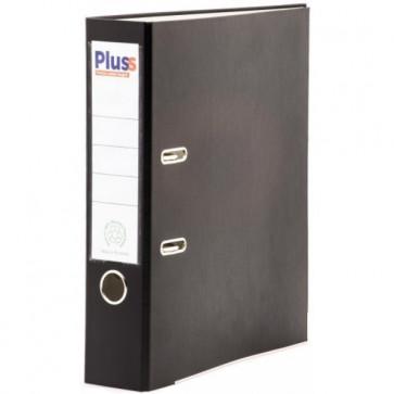 Biblioraft plastifiat, 7.5cm, negru, PLUSS