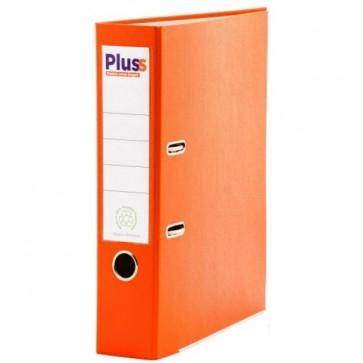 Biblioraft plastifiat, 7.5cm, portocaliu, PLUSS