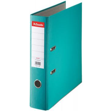 Biblioraft plastifiat, 7.5cm, turcoaz, ESSELTE Economy