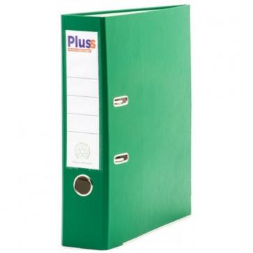 Biblioraft plastifiat, 7.5cm, verde, PLUSS
