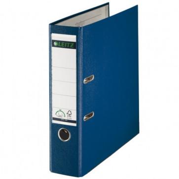 Biblioraft plastifiat, 8.0cm, albastru, LEITZ 180°