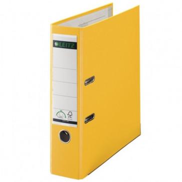 Biblioraft plastifiat, 8.0cm, galben, LEITZ 180°