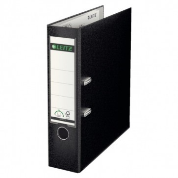 Biblioraft plastifiat, 8.0cm, negru, LEITZ 180°