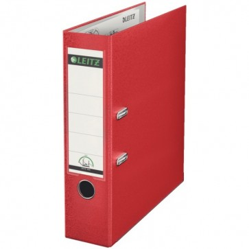 Biblioraft plastifiat, 8.0cm, rosu, LEITZ 180°