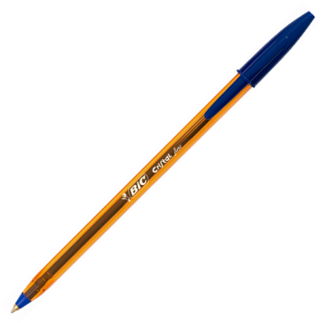 Pix fara mecanism, 0.8mm, albastru, BIC Cristal fine