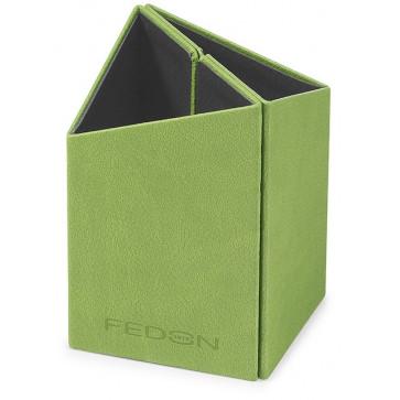 Suport birou, din imitatie de piele, verde FEDON Charme Bicchieri