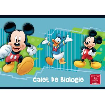 Caiet pentru biologie, 17 x 24cm, 24 file, PIGNA Premium Mickey Mouse