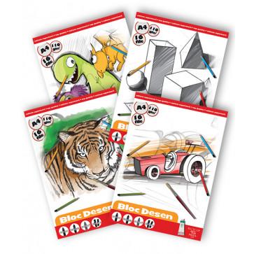 Bloc de desen, A4, 160 g/mp, 16 file, PIGNA Premium